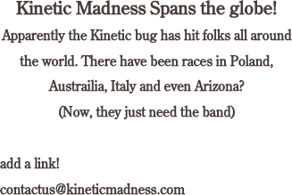 Kinetic Madness Spans the globe!